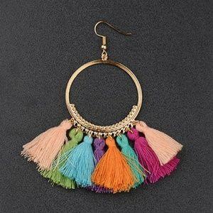🆕️ Bohemian Tassel Metal Circle Fringe earrings